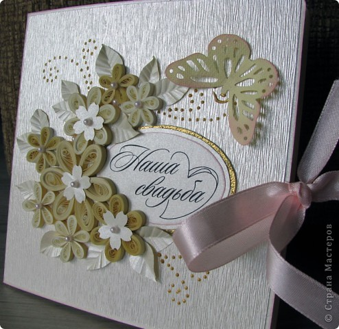 Всем доброго времени суток! Вот такой свадебный набор у меня получился. Давно хотела сделать конверт для дисков -все руки не доходили. Ну и очередной декор коробочки. фото 2