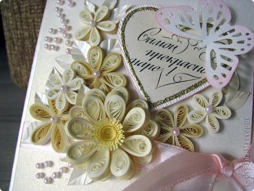 Всем доброго времени суток! Вот такой свадебный набор у меня получился. Давно хотела сделать конверт для дисков -все руки не доходили. Ну и очередной декор коробочки. фото 7