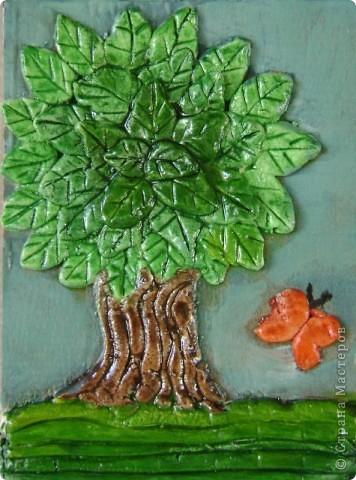 """Задание - """"Дерево"""" лепили мои ученики 4 класса школы искусств Это деревце Юли 14 лет фото 7"""