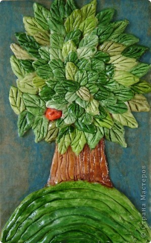 """Задание - """"Дерево"""" лепили мои ученики 4 класса школы искусств Это деревце Юли 14 лет фото 6"""