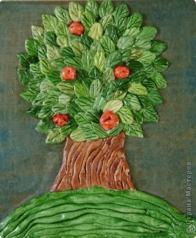 """Задание - """"Дерево"""" лепили мои ученики 4 класса школы искусств Это деревце Юли 14 лет фото 4"""