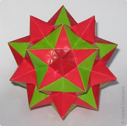 Всем привет!  Нашла здесь в СМ забавный 90-модульник. Star module by Miyuki Kawamura Схемка здесь: http://stranamasterov.ru/node/69579?c=favorite фото 1