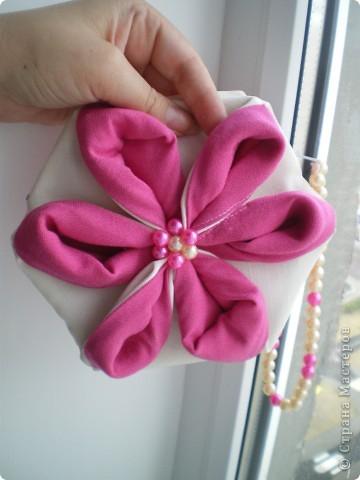 """Здравствуйте! Буду рада поделиться еще одним своим творением :) Это сумочка и хочется назвать ее """"Цветение"""". Не столько идею сумочки, но идею создания цветка подхватила вот отсюда http://yulechka-inspiration.blogspot.com/ фото 6"""