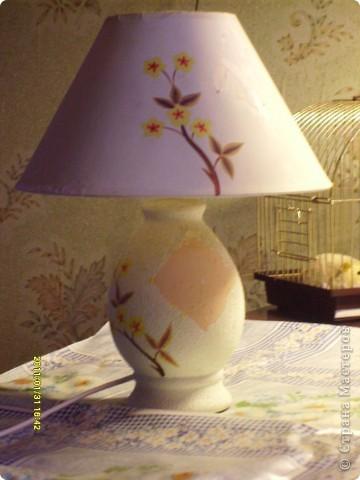 И вот пришла мысль добавить отделочную ленту. Добавили и вот как лампа вписалась в наш новый интерьер. Ну более менее.. фото 2