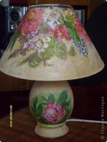 И вот пришла мысль добавить отделочную ленту. Добавили и вот как лампа вписалась в наш новый интерьер. Ну более менее.. фото 3