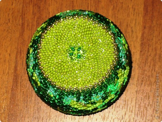 Вот такую баночку-шкатулочку я сотворила, насмотревшись на произведения Светланы 79 http://stranamasterov.ru/user/48727 фото 3