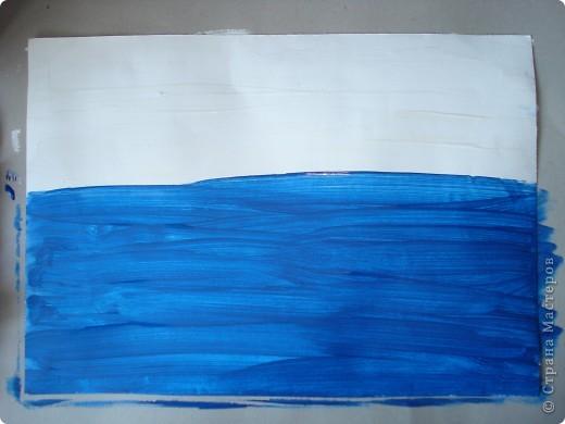 Эту картину писала по Мастер-классу Марины Терешковой. http://www.mtdesign.ru/archives/2124  Хочу предложить вам свои этапы выполнения этой работы.  Нам понадобится бумага для акварели,гуашь,две кисти щетина плоская,потолще(у меня №12) и потоньше(у меня №3) и тоненькая(№1,2)белка. фото 2