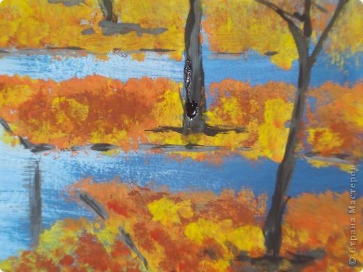 Эту картину писала по Мастер-классу Марины Терешковой. http://www.mtdesign.ru/archives/2124  Хочу предложить вам свои этапы выполнения этой работы.  Нам понадобится бумага для акварели,гуашь,две кисти щетина плоская,потолще(у меня №12) и потоньше(у меня №3) и тоненькая(№1,2)белка. фото 23