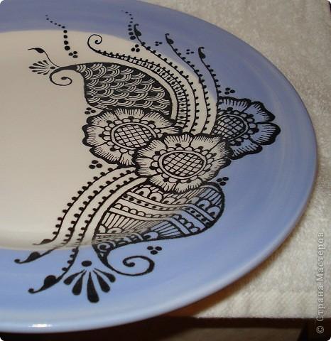 "Роспись тарелок в стиле ""Менди"". фото 2"