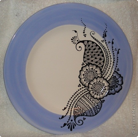 "Роспись тарелок в стиле ""Менди"". фото 1"