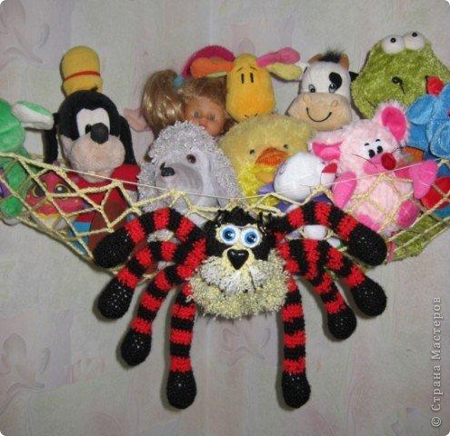 Вот такой гамак-паук для игрушек фото 1
