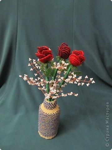 Эту вазочку с розами приготовила в подарок сестре мужа. Розочки сплела быстро, а вот с вазочкой пришлось повозиться - сначала долго искала подходящую тару, нашла, оплела, не понравилось. Не понравилось широкое горлышко и как цветы стояли в той вазочке, распустила, уффф, эту оплела за три дня. Результатом, в принципе, довольна, а как ВАМ???? Спасибо, что зашли в гости! фото 2