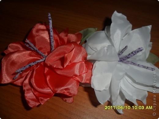 Цветы из ткани 2 фото 8