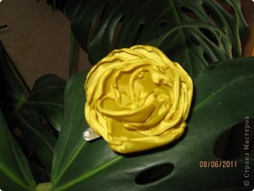 Цветы из ткани 2 фото 6