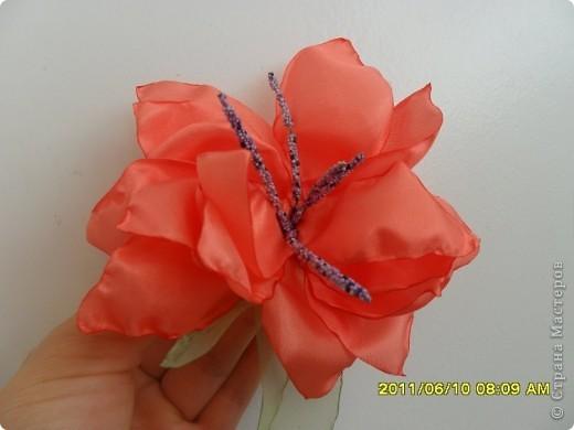 Цветы из ткани 2 фото 10