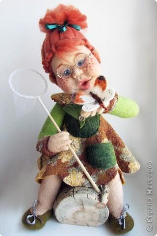 валяная кукла ботаник