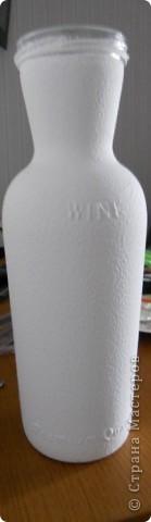 Вот такая бутылочка у меня получилась. Хотелось поднять себе настроение и поэтому я ее сделала солнечной) фото 3