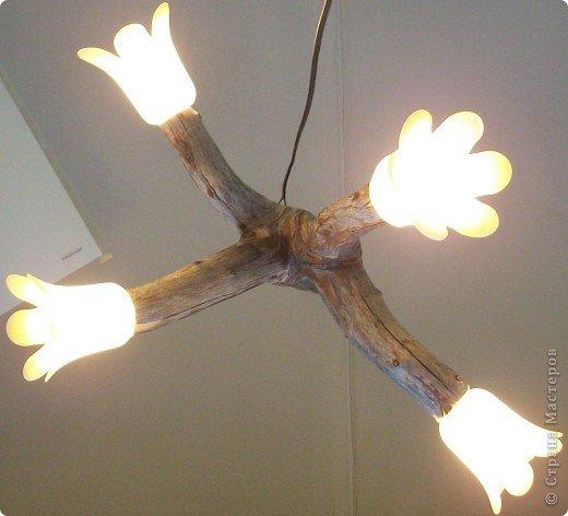 Необычный светильник из дерева своими руками.