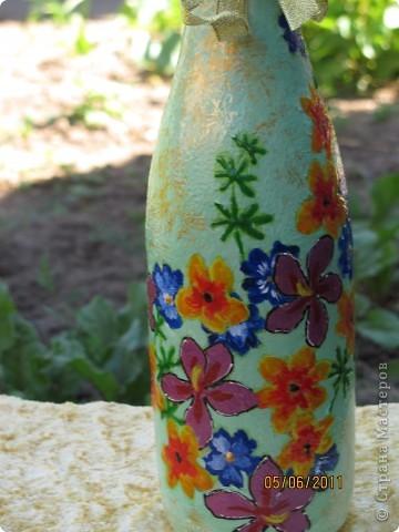 Такая вот получилась летняя бутылочка. фото 4