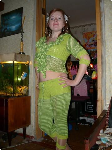 Мамуля связала себе костюм фото 1