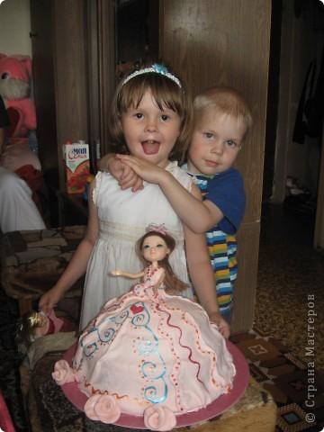Торт-кукла фото 4