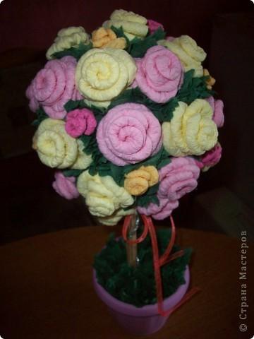 Ура!!! У меня зацвело розовое дерево! Спасибо Олисандре http://stranamasterov.ru/node/144894 в ее деревья невозможно не влюбиться!  Очень старалась, ну и что, что ствол коротковат, мне все равно нравится! фото 2