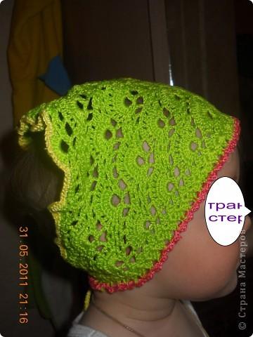 Вязание крючком - косынка для девочки
