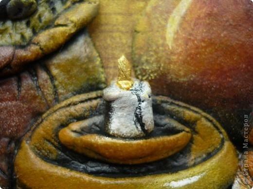 И снова благодаря замечательной художнице Марине Федотовой у меня созрела вот такая картинка.Размер 21на30.Впервые на этой работе попробовала роспись по МК Светланы(Светлячок и К).Много недочетов,но сама техника мне понравилась.Правда страшновато было красить все в черный цвет. фото 8