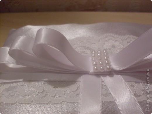 Свадебная подушечка для обручальных колец фото 2