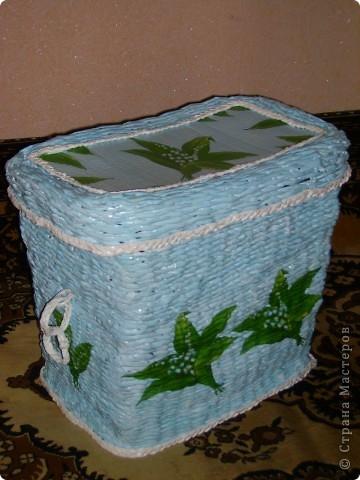 Сплела очередную корзину для белья. фото 1