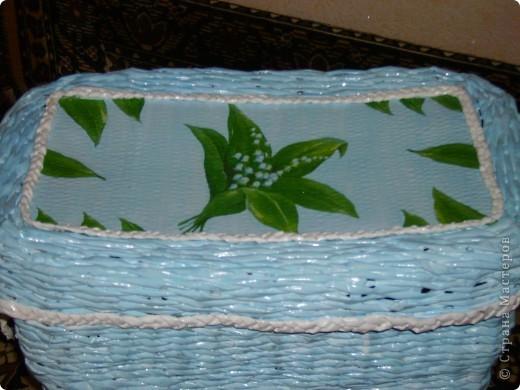 Сплела очередную корзину для белья. фото 2