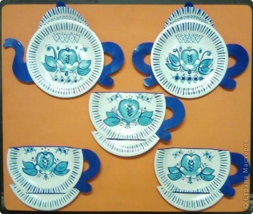 """Посмотрела пост ОLGA15  """"Красивые птички из бумажных тарелочек.""""  http://stranamasterov.ru/node/50803?c=favorite очень они мне понравились и решила сделать тоже из бумажных тарелочек кухонный сервиз, ну а как получилось судите сами.  фото 1"""