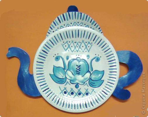 Поделка на тарелочке