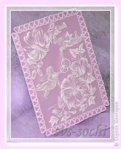 Свадебная открытка с ангелами фото 1