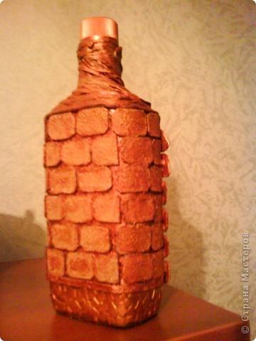 бутылку отмыть от этикеток, обезжирить, наклеить фото, сверху приклеить рамочку по краю фото фото 18