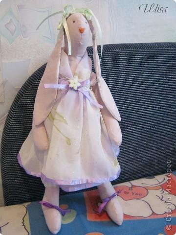 "Заюшка ""Патрисия"". Сшита из бязи , платье из шифона, подштанники из шёлка, наряд украшен лентами и гипюром. фото 1"