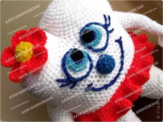 Игрушка Мастер-класс Вязание Вязание крючком Вязаная игрушка Всёлый Зубик - Авторский мастер класс Нитки Пряжа фото 39