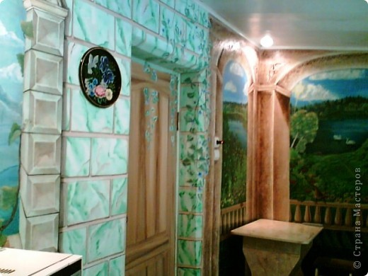Роспись стен в кухне фото 3