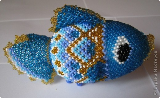 Пасхальное яйцо Гжельская рыбка