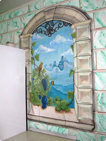 Роспись стен в кухне фото 2