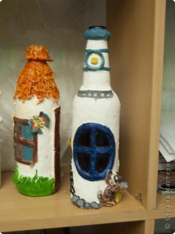 Как то раз я увидела очень прилестные бутылочки у Жужалица http://stranamasterov.ru/node/149774?c=favorite_c И после этого я просто заболела этими идеями и буквално за неделю у меня родились сразу 3 бутылочки фото 4