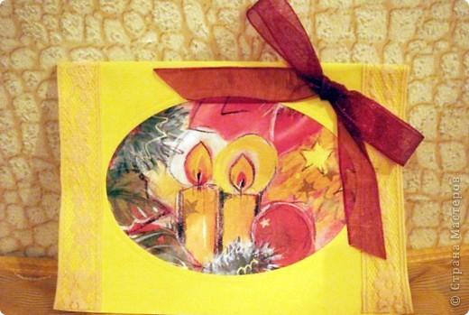 Новогодние открытки (мои первые шаги) фото 3