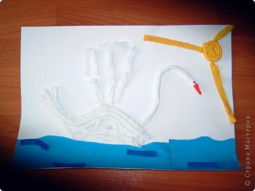 лебедь из гофротрубочек