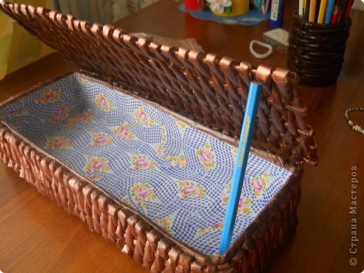 Плетёная шкатулочка для рукоделия. фото 2