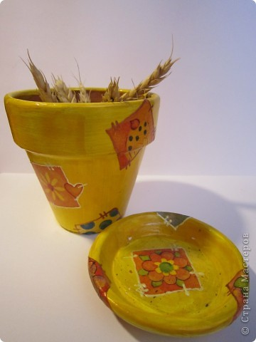 Маленький горшочек для маленького цветка))