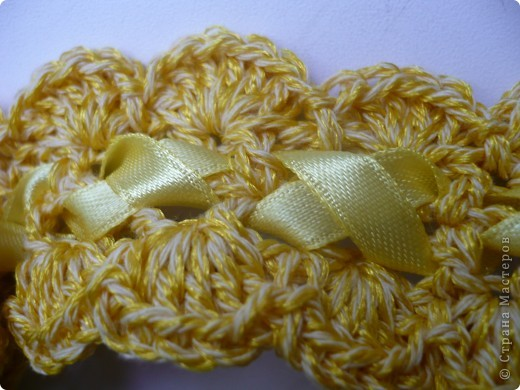 Давно мечтала доче что-нибудь приятное связать:) Например, такую повязку... фото 2