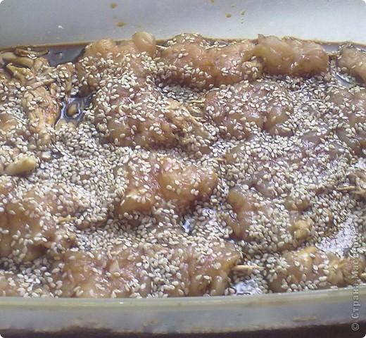 Мини-шашлычки из куриного филе фото 7