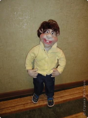 Мой гламурный парень Вася. Первая каркасная кукла