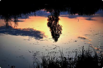 Моя Акварель.Закат на реке. фото 3