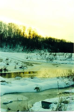Моя Акварель.Закат на реке. фото 4